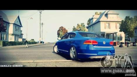 VW Passat B7 TDI Blue Motion for GTA 4 back view