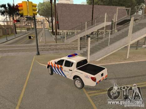 Mitsubishi L200 Police for GTA San Andreas left view