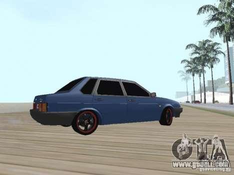 VAZ 21099 v2 for GTA San Andreas back left view