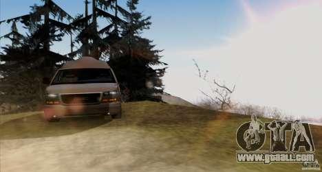 GMC Savana AWD for GTA San Andreas inner view