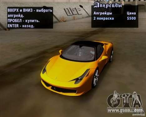 Ferrari 458 Italia V12 TT Black Revel for GTA San Andreas side view