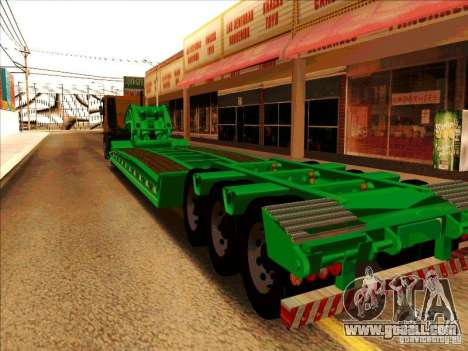 Trailer Iveco Eurotech for GTA San Andreas right view