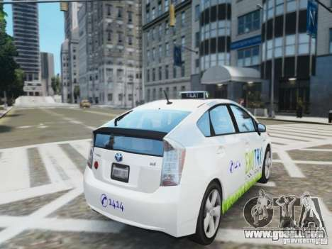 Toyota Prius EKO TAXI (Hrvatski taxi) for GTA 4 back left view