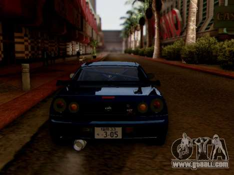 Nissan Skyline BNR34 GT-R for GTA San Andreas right view