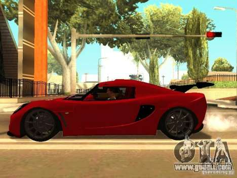Lotus Exige 240R for GTA San Andreas back view