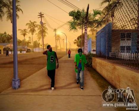 Skins pack gang Grove for GTA San Andreas fifth screenshot