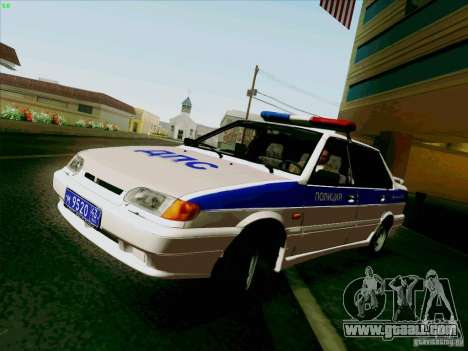 VAZ 2115 Police for GTA San Andreas back left view