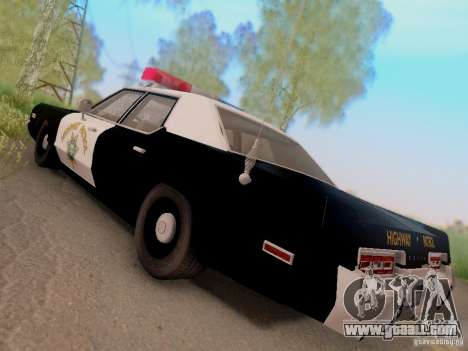 Dodge Monaco 1974 California Highway Patrol for GTA San Andreas left view