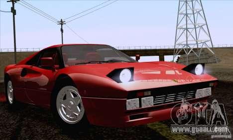 Ferrari 288 GTO 1984 for GTA San Andreas back left view