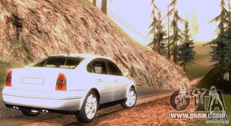 Volkswagen Passat B5+ for GTA San Andreas engine
