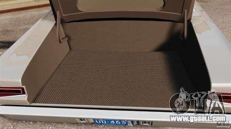 Dodge Coronet 1967 for GTA 4 upper view