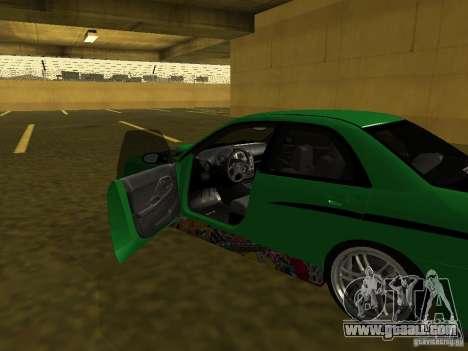 Subaru Impreza WRX for GTA San Andreas upper view