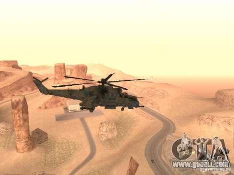 Mi-24 p for GTA San Andreas right view