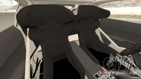 Audi R8 LMS for GTA 4 inner view