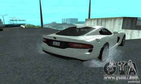 Dodge SRT Viper GTS 2013 for GTA San Andreas back left view
