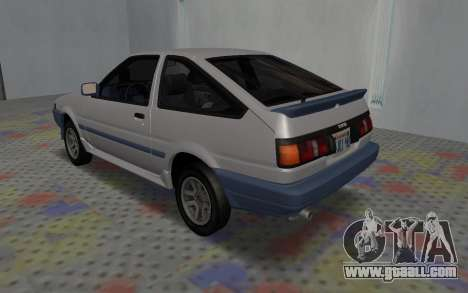 Toyota Corolla GT-S Tunable for GTA San Andreas back left view