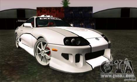 Toyota Supra Tunable for GTA San Andreas back left view