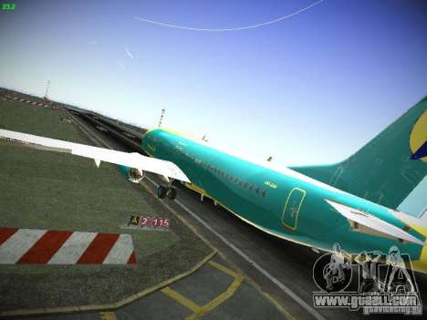 Boeing 737-84R AeroSvit Ukrainian Airlines for GTA San Andreas back left view
