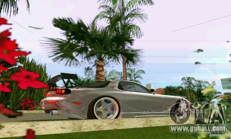 Mazda RX7 tuning for GTA Vice City back view