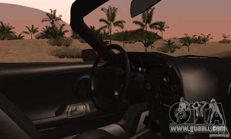 Toyota Supra Targa for GTA San Andreas inner view