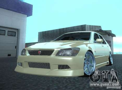 Toyota Altezza for GTA San Andreas back left view