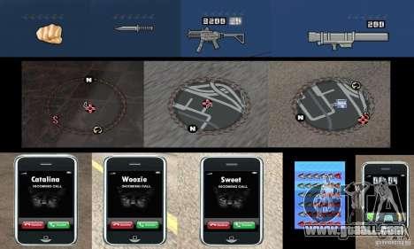 Ultra-modern HUD for GTA San Andreas