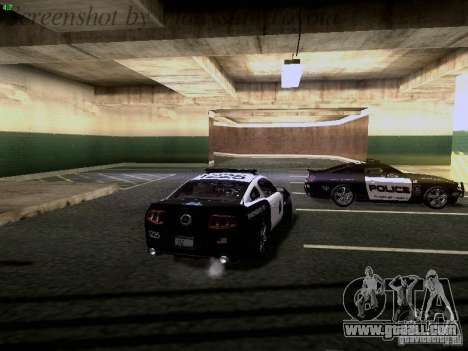 Ford Mustang GT 2011 Police Enforcement for GTA San Andreas bottom view