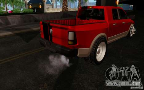 Dodge Ram 3500 Tuning for GTA San Andreas back view