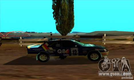 Ford Sierra RS500 Cosworth RallySport for GTA San Andreas back left view