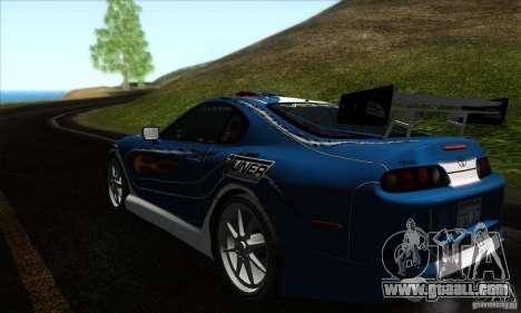 Toyota Supra Tunable for GTA San Andreas interior