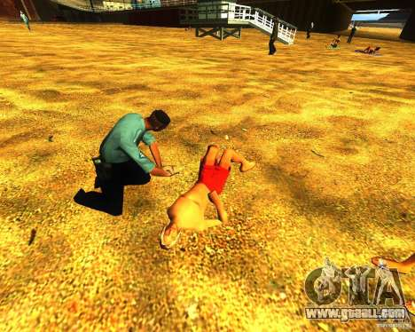 Salvation of man on the beach for GTA San Andreas