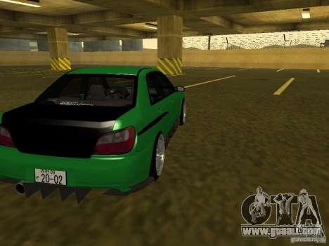 Subaru Impreza WRX for GTA San Andreas inner view
