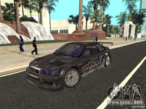 BMW M3 GTR of NFS Most Wanted for GTA San Andreas side view