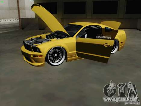 Ford Mustang GT Lowlife for GTA San Andreas back view