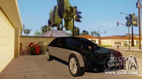 Maybach 62 for GTA San Andreas back view