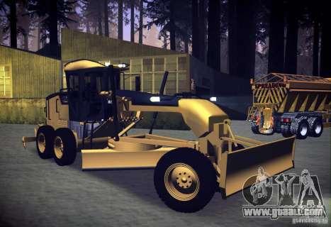 Caterpillar 140AWD Motorgrader for GTA San Andreas right view