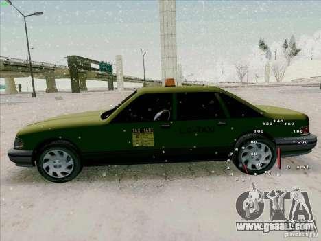 HD Taxi SA from GTA 3 for GTA San Andreas back view