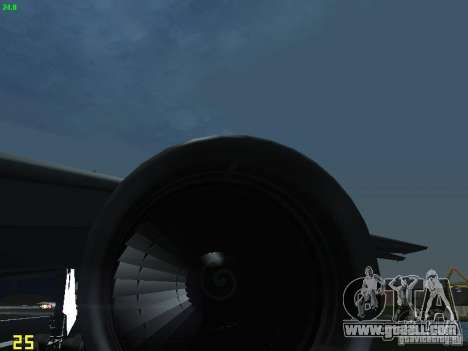 Boeing 767-300 AeroSvit Ukrainian Airlines for GTA San Andreas inner view
