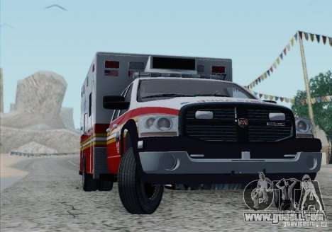 Dodge Ram Ambulance for GTA San Andreas bottom view