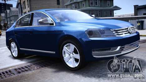 VW Passat B7 TDI Blue Motion for GTA 4 left view