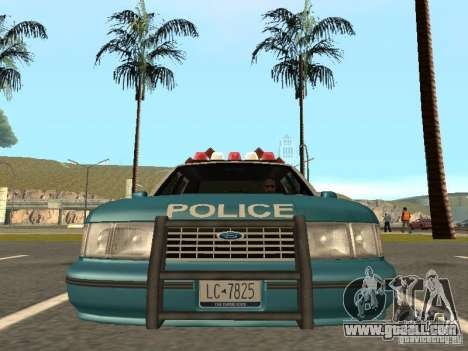 HD Police from GTA 3 for GTA San Andreas back view