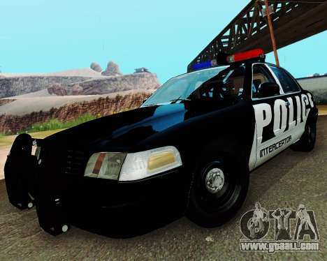 Ford Crown Victoria Police Interceptor 2011 for GTA San Andreas