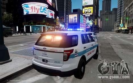Ford Explorer Chicago Police 2013 for GTA 4 back left view