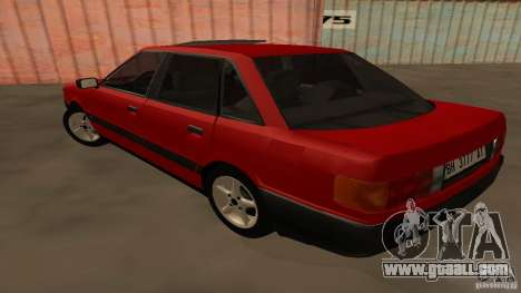 Audi 80 B3 v2.0 for GTA San Andreas back left view