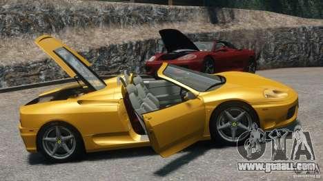 Ferrari 360 Spider 2000 for GTA 4 right view