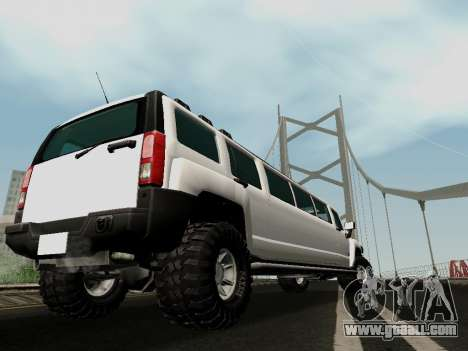 Hummer H3 Limousine for GTA San Andreas left view