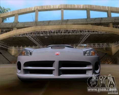 Dodge Viper SRT-10 Coupe for GTA San Andreas right view