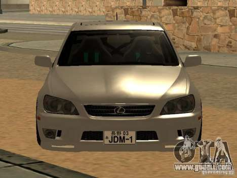 Lexus IS300 JDM for GTA San Andreas back left view