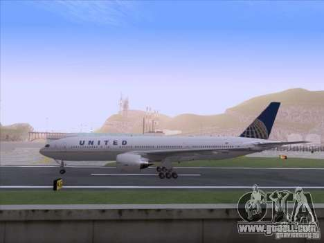 Boeing 777-200 United Airlines for GTA San Andreas right view