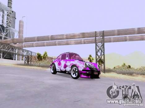 Porsche 911 Pink Power for GTA San Andreas back left view